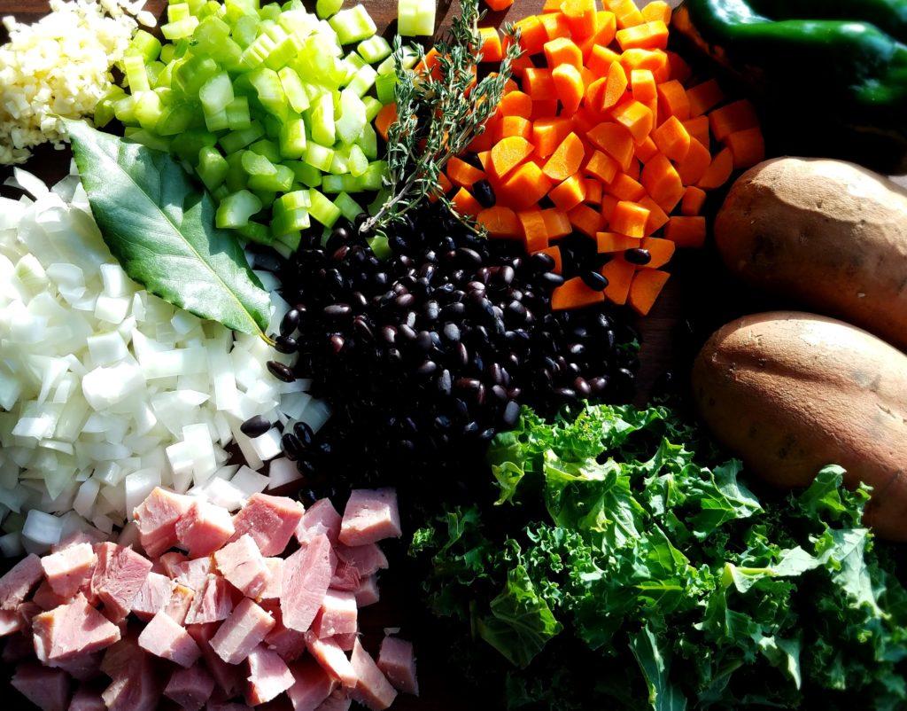 Black Bean Sweet Potato Stew Ingredients