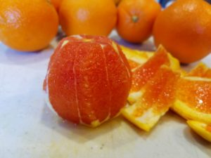 Peeled Cara Cara Orange