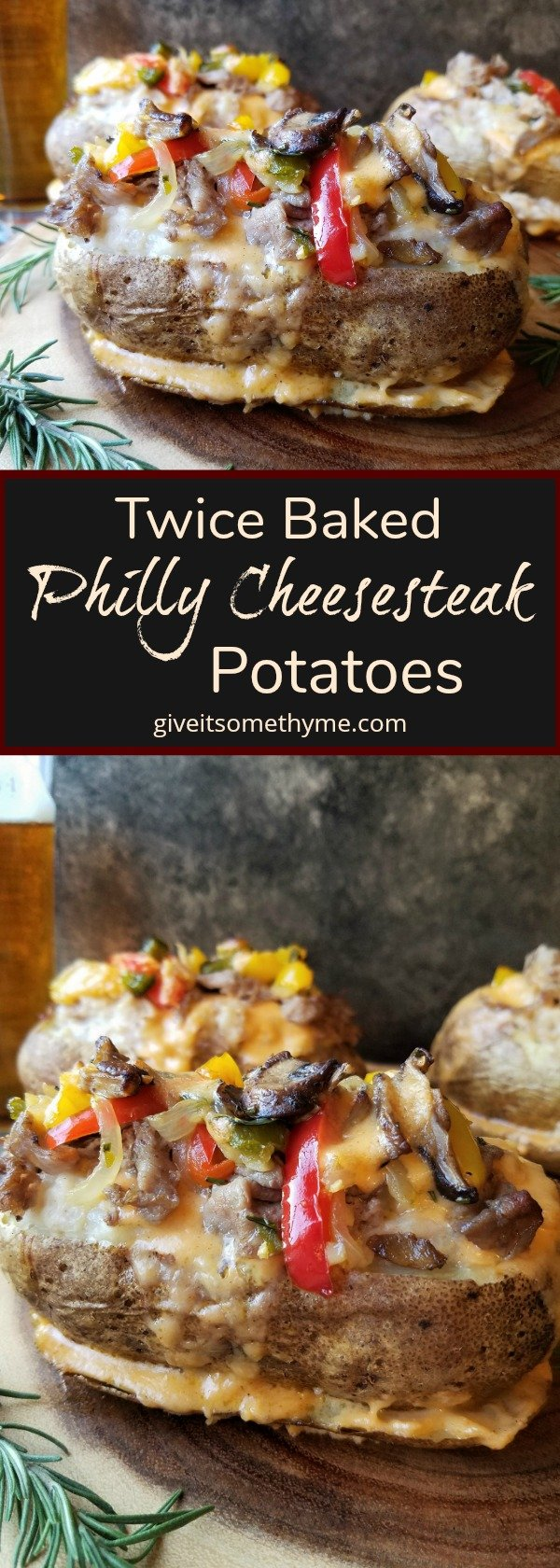 Philly Cheesesteak Potatoes with Homemade Whiz! - Give it Some Thyme