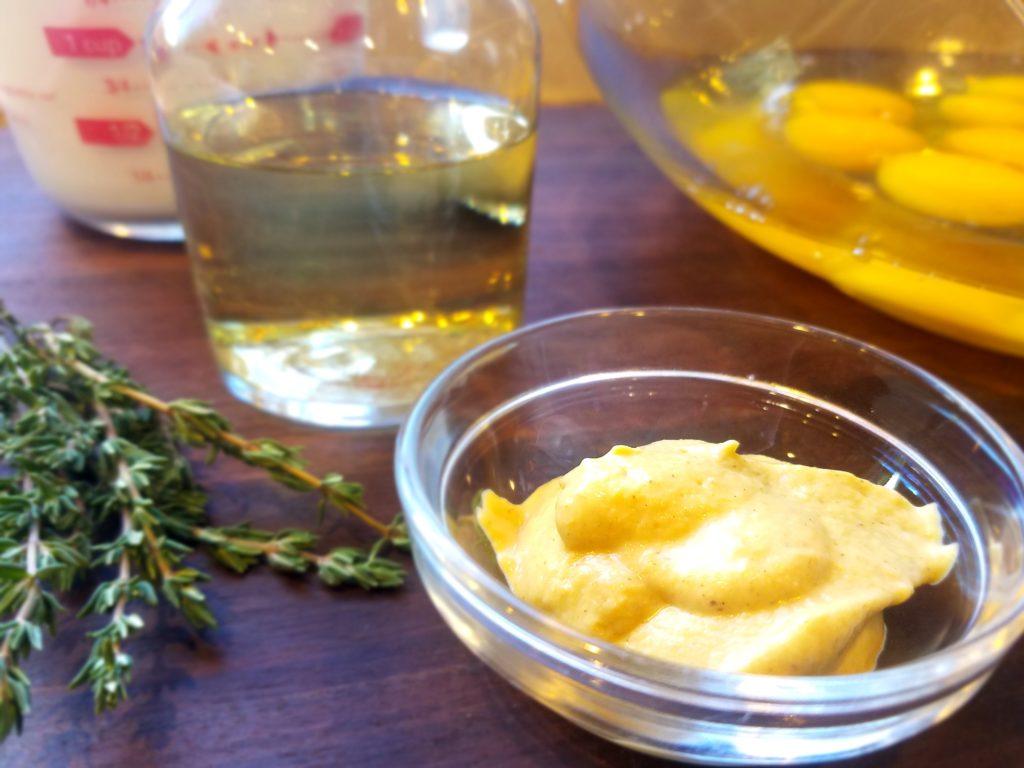 Cheesy Veggie and Ham Brunch Casserole Egg Mixture