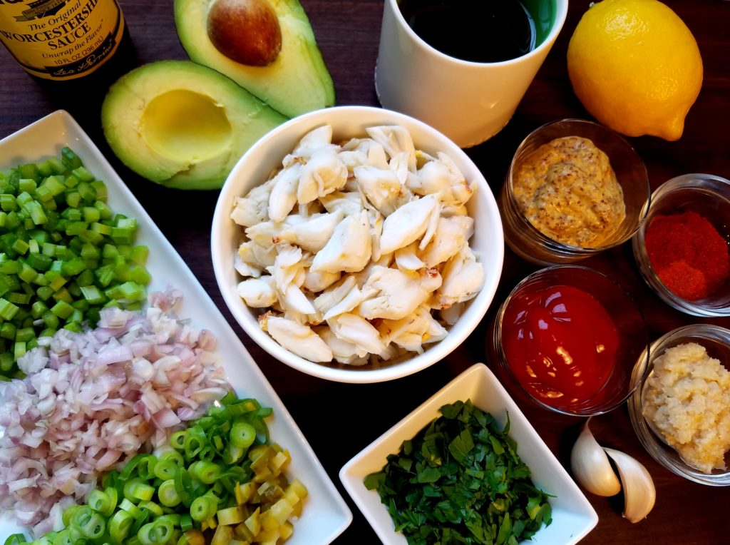 Crab and Avocado Remoulade Ingredients