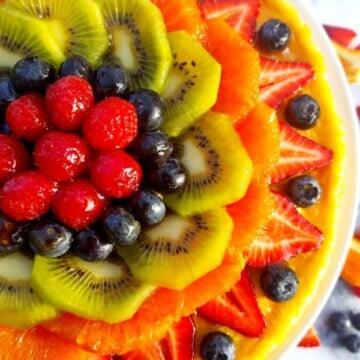 Fresh Fruit Meyer Lemon Flan Featured Picture