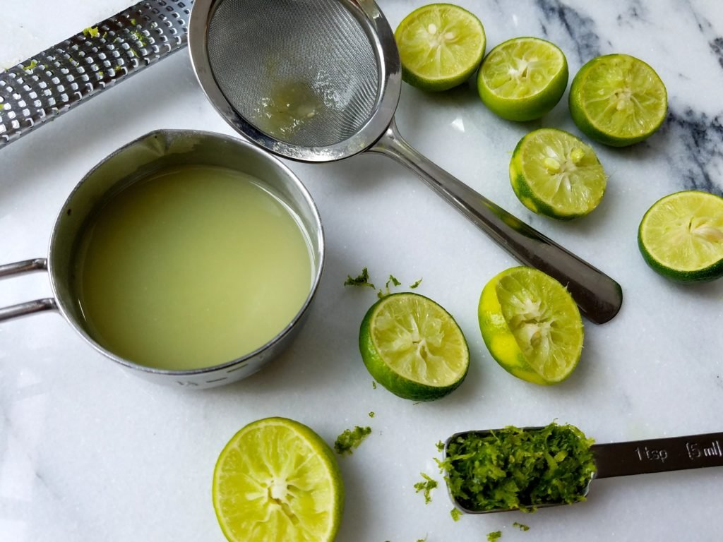 Key Lime Juice and Zest