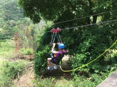 St Kitts Kim Ziplining