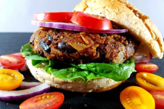 BBQ Vegan Black Bean Burgers