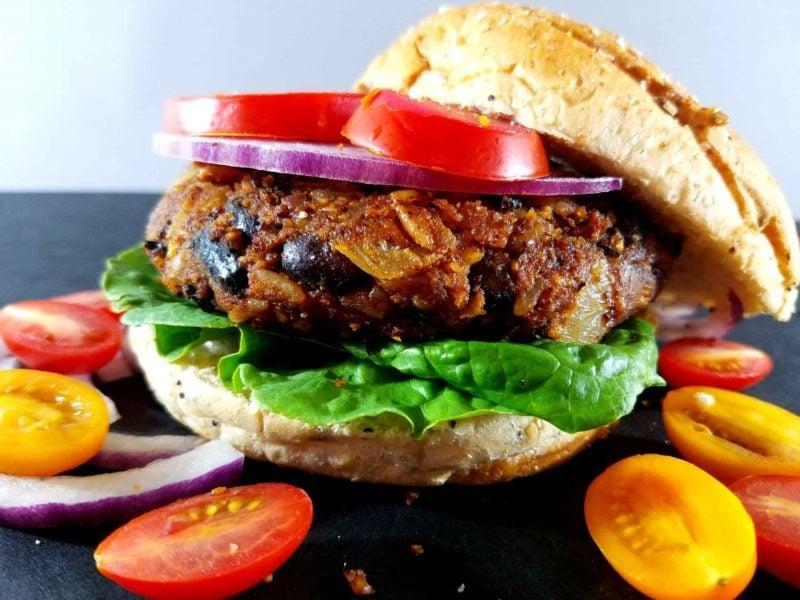 BBQ Vegan Black Bean Burgers