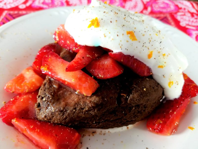 Double Chocolate Strawberry Shortcakes