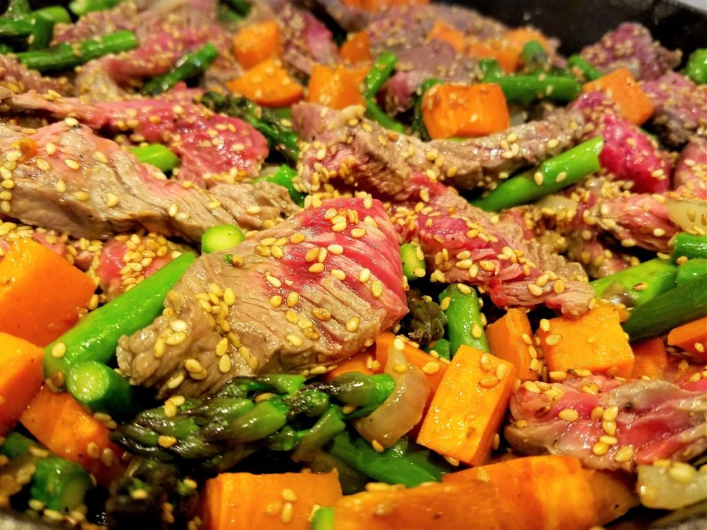 Sirloin Browning with Vegetables for Stir Fry
