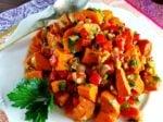 Sweet Potato Salad with Blood Orange Vinaigrette Close up