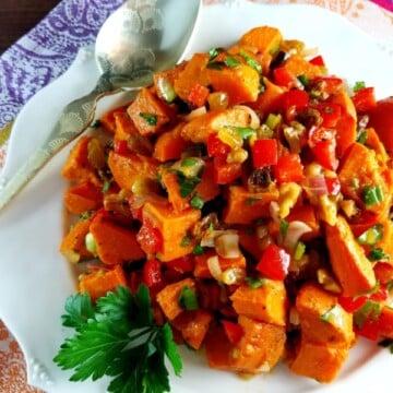 Sweet Potato Salad with Blood Orange Vinaigrette