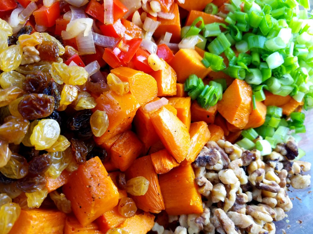 Sweet Potato Salad with Blood Orange Vinaigrette Ready to Toss