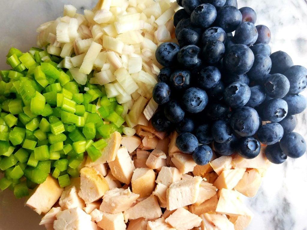 Blueberry Chicken Salad Ingredients
