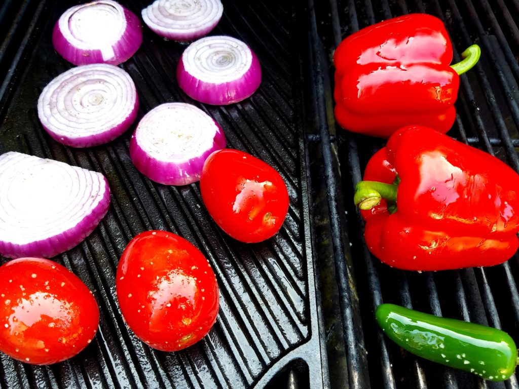 Grilled Tomato Gazpacho Vegetables on the Grill