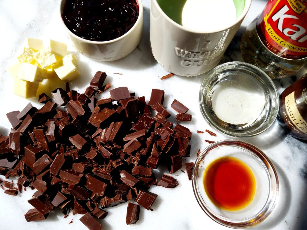 Chocolate Raspberry Sauce Ingredients