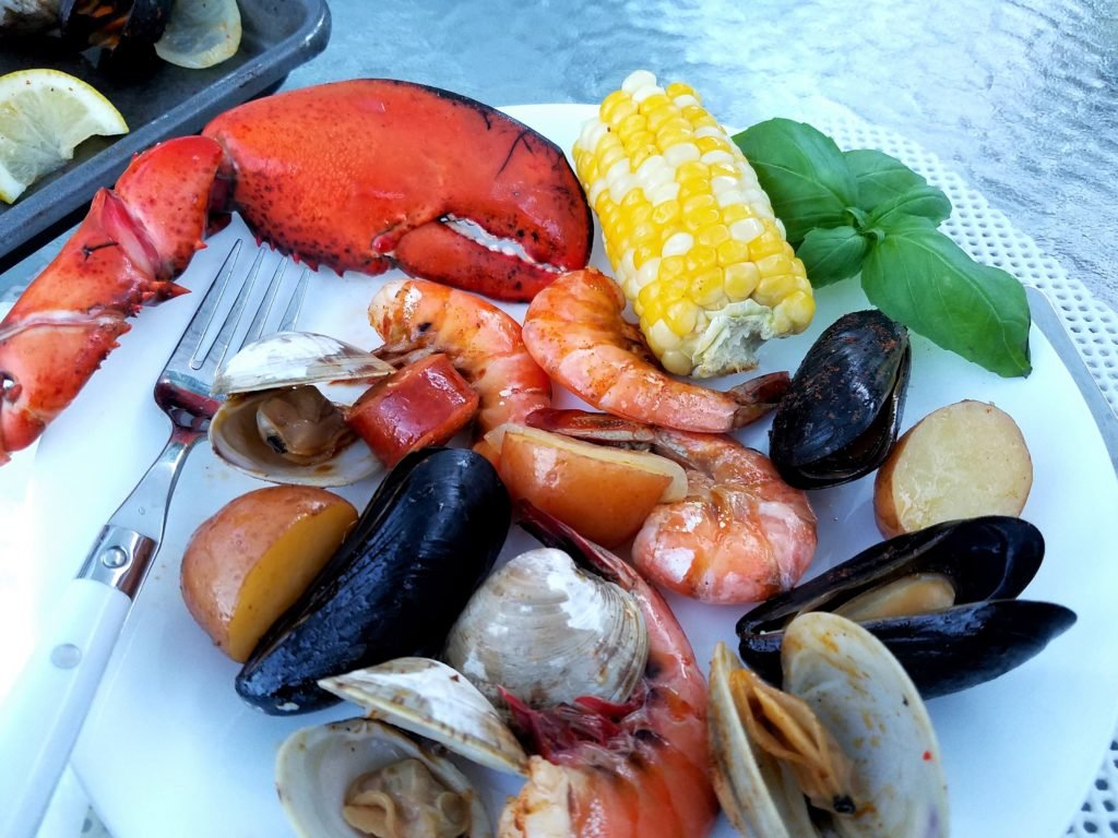 One Pot Clambake Plated