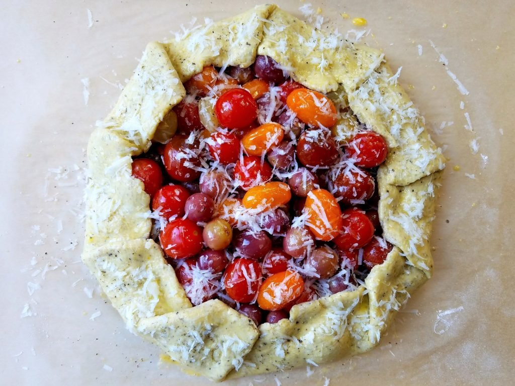 Blistered Cherry Tomato and Grape Galette Ready to Bake
