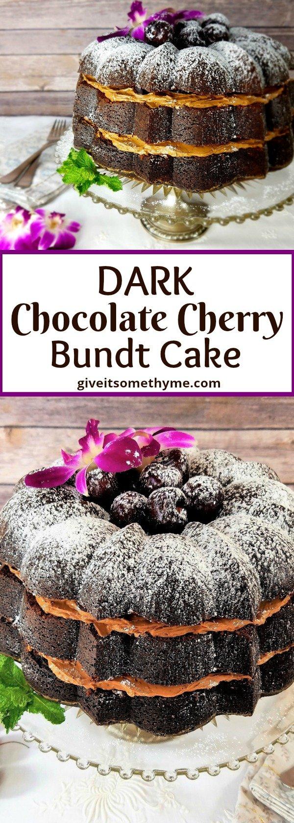 Dark Chocolate Cherry Bundt Cake | Give it Some Thyme