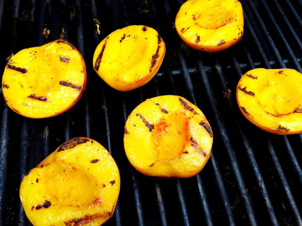 Peaches on Grill for Crostini