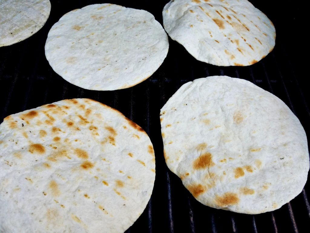 Tortillas on Grill