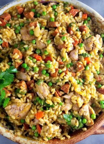 Chicken and Chorizo Paella Verde