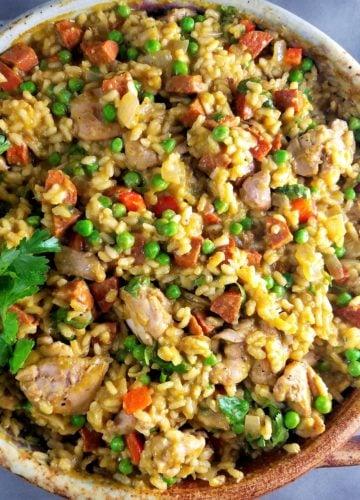 Chicken and Chorizo Paella Verde
