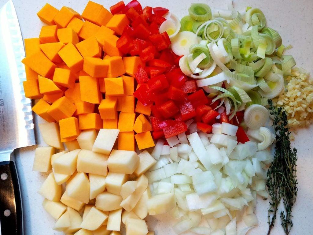 Chowder Vegetables Chopped