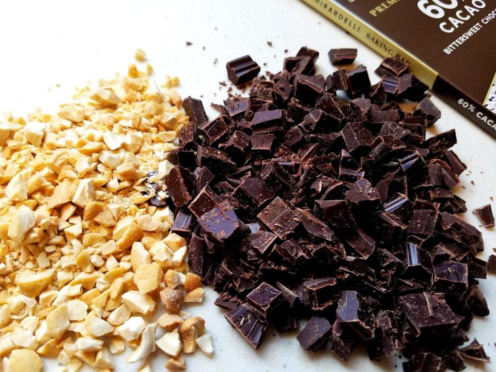 Dark Chocolate and Cashews Chopped