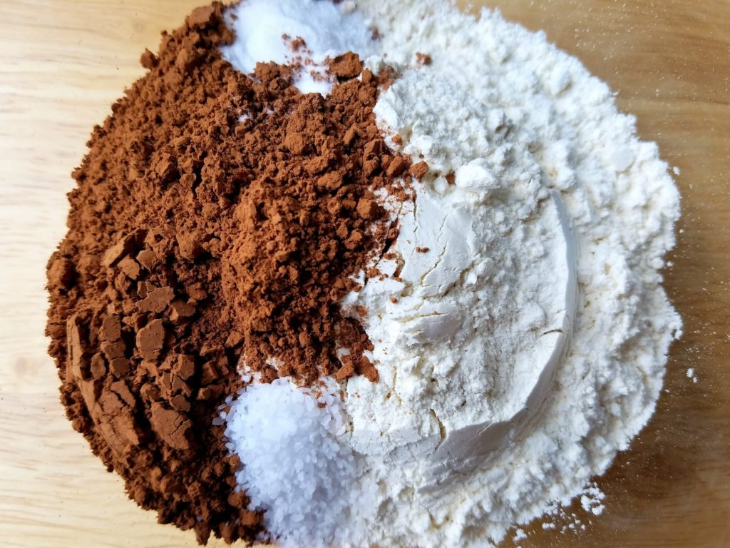 Double Chocolate Cashew Cookie Dry Ingredients