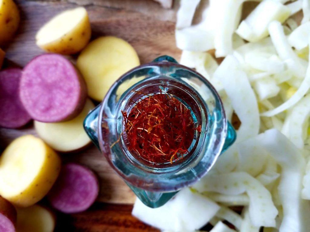 Saffron close up