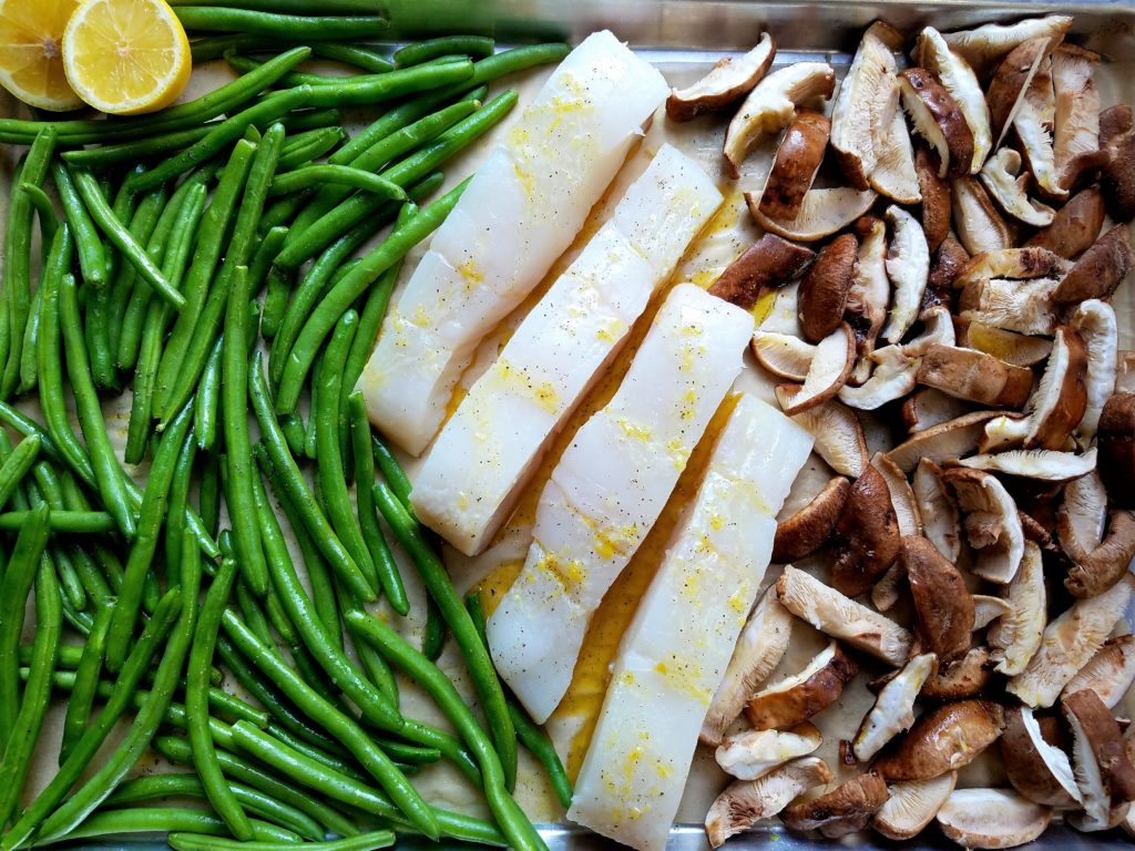 Sheet Pan Roasted Halibut Ready to Bake
