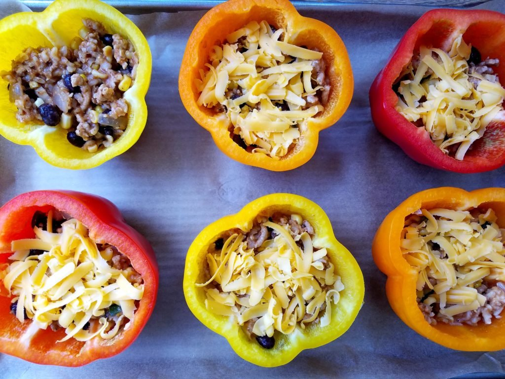 Stuffed Peppers Getting Filled