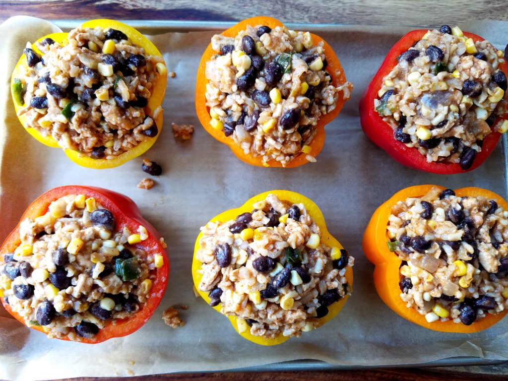 Stuffed Peppers Ready to Bake
