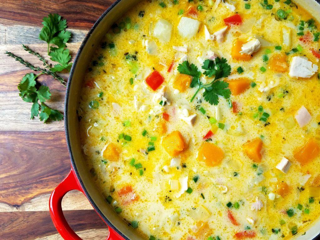 Sweet Corn and Chicken Chowder