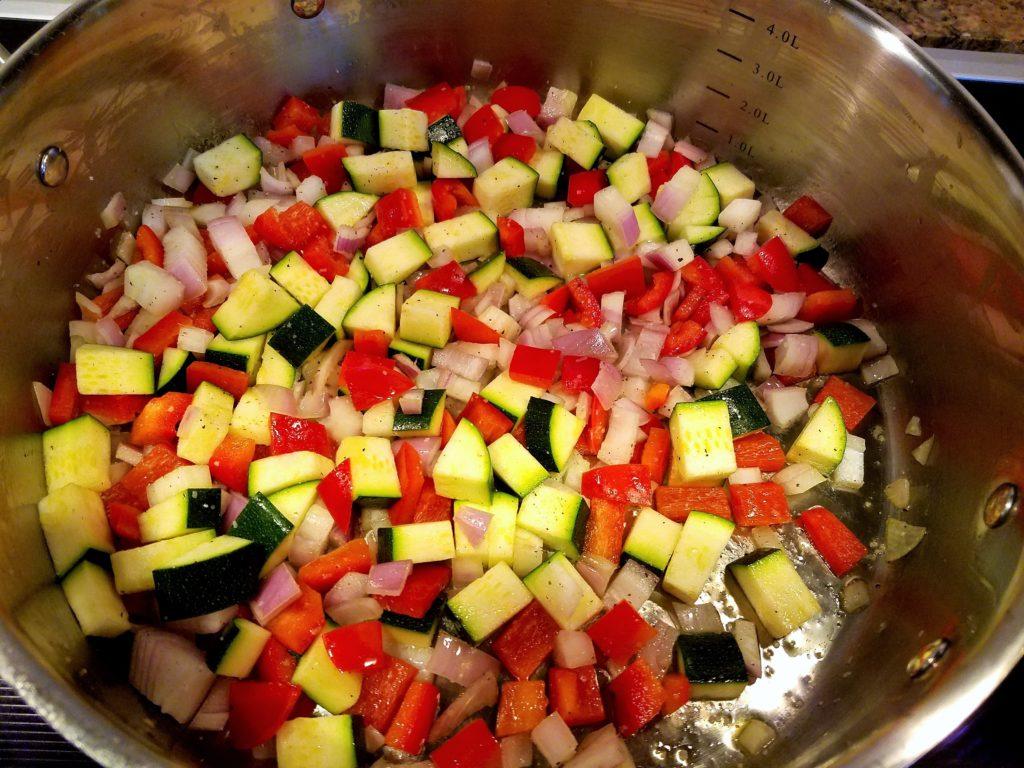 Thai Shrimp Vegetables Cooking