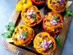 Turkey Enchilada Stuffed Peppers