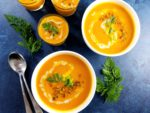 Curried Carrot Coconut Bisque - rich flavor, velvety texture, vegan and gluten free!   giveitsomethyme.com