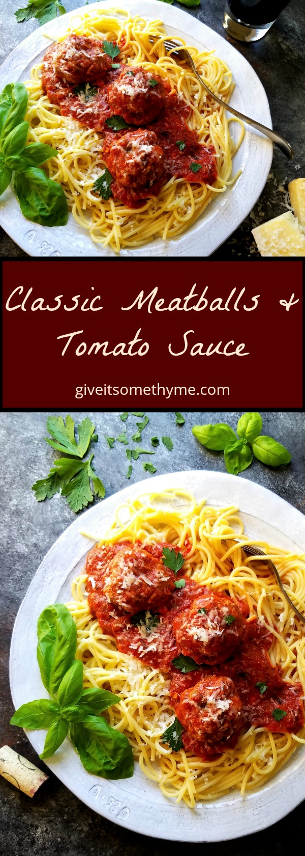 Classic Meatballs & Tomato Sauce - Give it Some Thyme