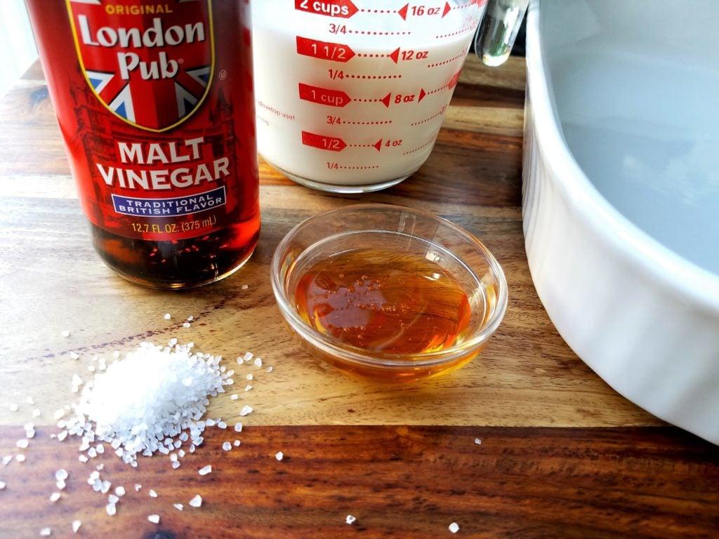 Sea Salt Vinegar Buttermilk and Honey for Chicken Tenders