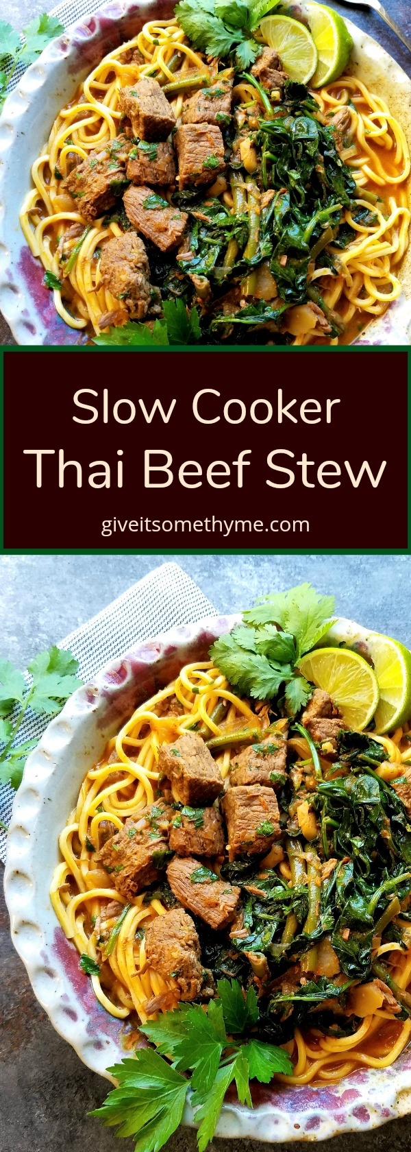 Slow Cooker Thai Beef Stew - Give it Some Thyme