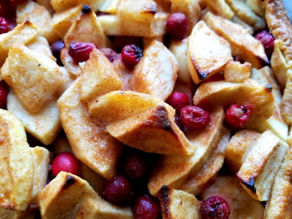 Apple Pear Cranberry Crostata Close Up | giveitsomethyme.com