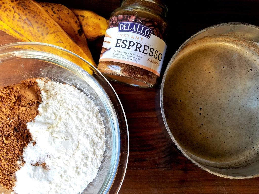 Mocha Banana Bread Ingredients