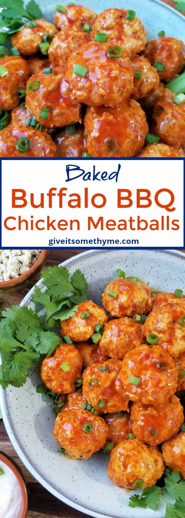 Buffalo BBQ Chicken Meatballs - Give it Some Thyme