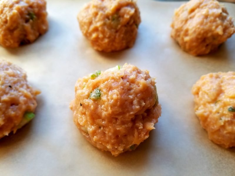 Chicken Meatballs Formed