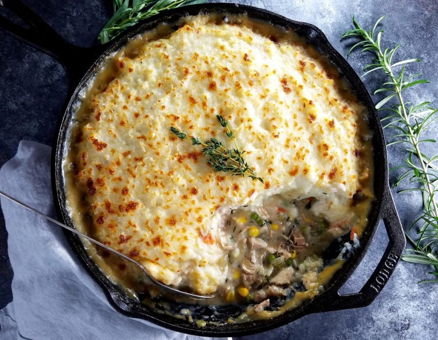 Skillet Turkey Pie - Give it Some Thyme