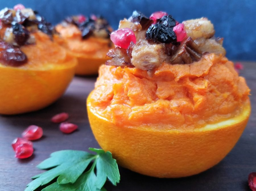 Sweet Potato Stuffed Orange Cups | giveitsomethyme.com