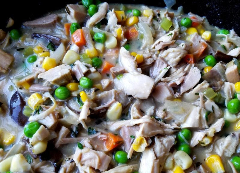 Turkey with Vegetables in Gravy for Shepherd's Pie