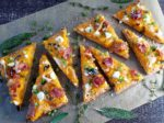 Roasted Butternut Squash Flatbread with Caramelized Shallots, Goat Cheese, Prosciutto & Sage | giveitsomethyme.com