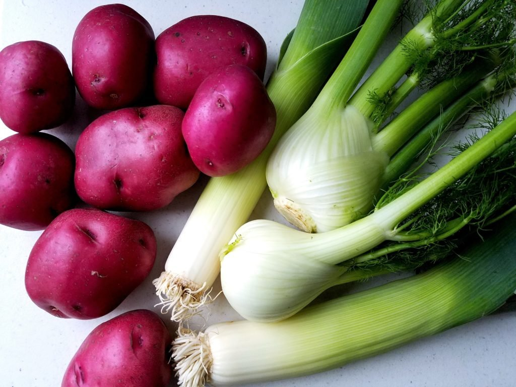 Red Skinned Potatoes Leeks and Fennel