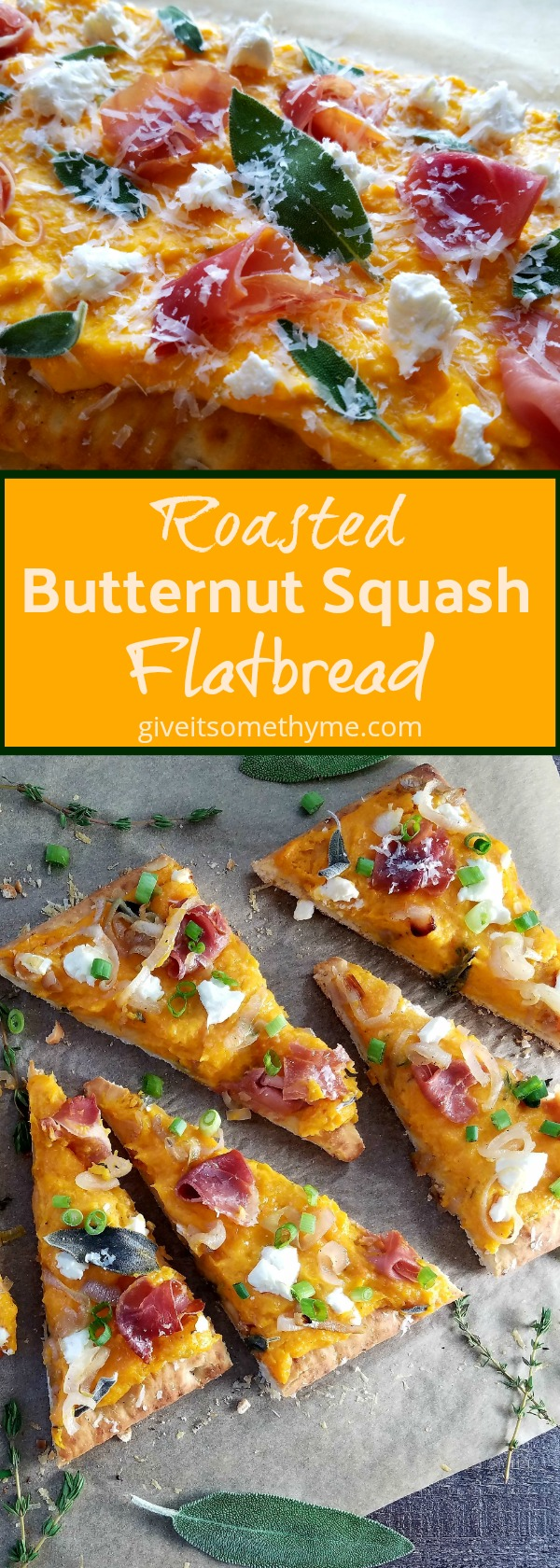 Roasted Butternut Squash Flatbread - Give it Some Thyme