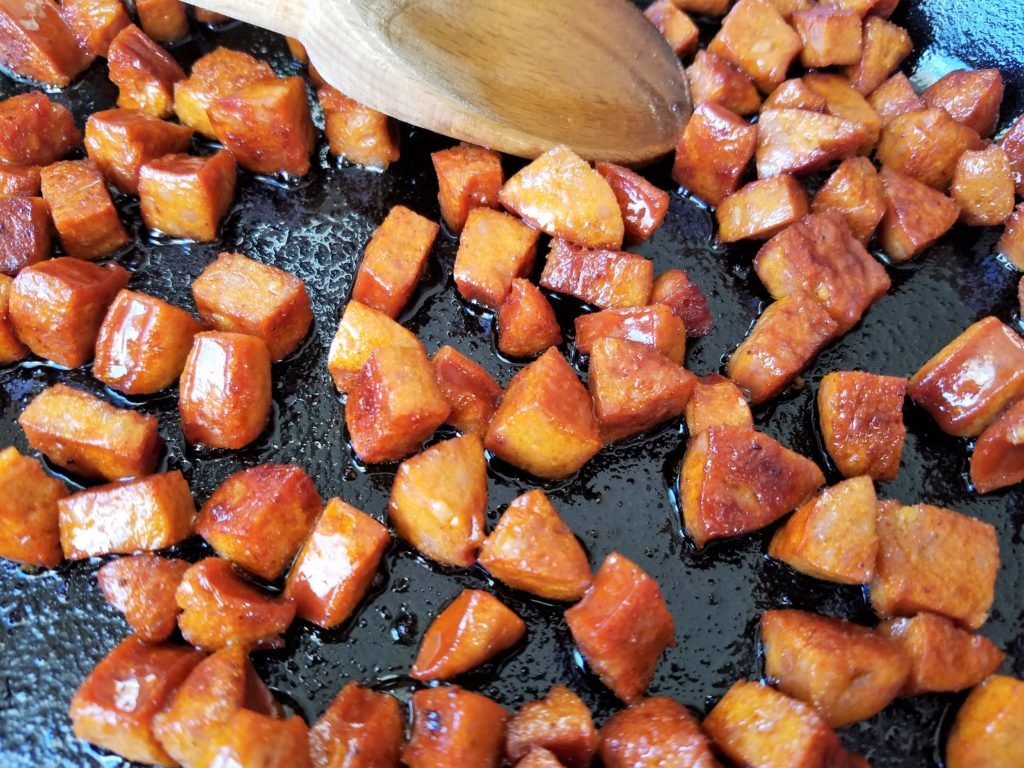 Browned Chorizo for Sweet Potato Hash